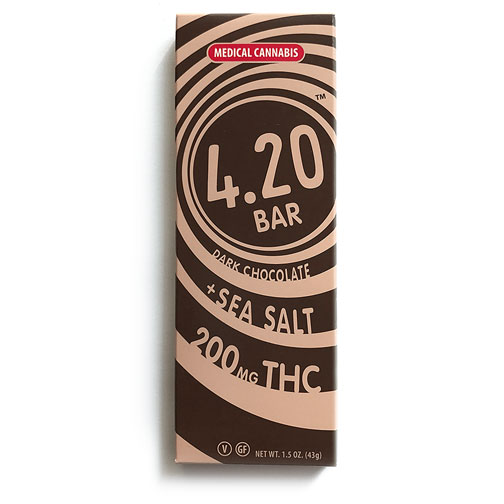 Dark Chocolate + Sea Salt 4.20 Bar | VCC Brands