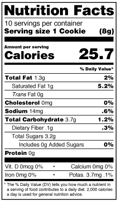 Cookie-The-Chipster-Nutrition